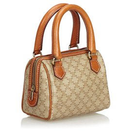Céline-Celine Brown Cartable Macadam-Marron,Beige