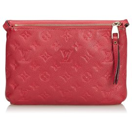 Louis Vuitton-Louis Vuitton Red Empreinte Twice Bag-Red