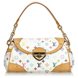 Louis Vuitton-Louis Vuitton White Monogram Multicolore Beverly MM-White,Multiple colors