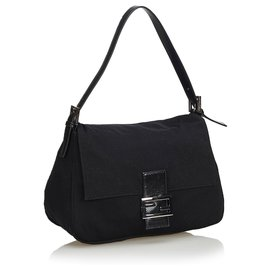 Fendi-Fendi Black Cotton Mamma Forever-Noir