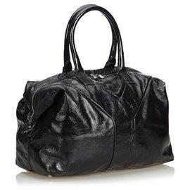Yves Saint Laurent-Sac Boston Easy en cuir noir YSL-Noir