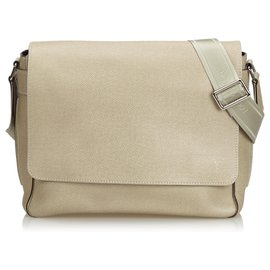 Louis Vuitton-Louis Vuitton Brown Taiga Roman MM-Brown,Light brown