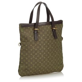 Louis Vuitton-Louis Vuitton Brown Monogram Mini Lin Francoise-Brown,Khaki,Dark brown