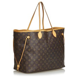 Louis Vuitton-Louis Vuitton Brown Monogram Neverfull GM-Brown
