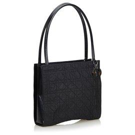 Dior-Dior Black Cannage Nylon Tote Bag-Black