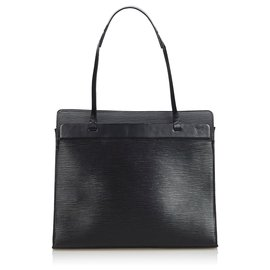 Louis Vuitton-Louis Vuitton Black Epi Croisette PM-Black