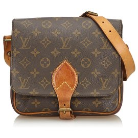 Louis Vuitton-Louis Vuitton Brown Monogram Cartouchiere MM-Brown
