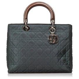 0cace8f9c Dior-Dior Brown Cannage Nylon Senhora Dior Satchel-Marrom,Caqui,Castanho  escuro ...