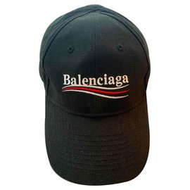 Balenciaga-Balenciaga Logo-Embroidered Cap-Black