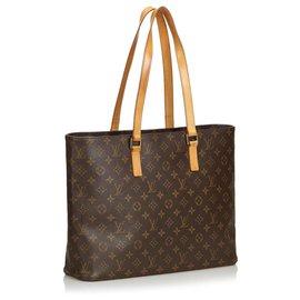Louis Vuitton-Louis Vuitton - Sac cabas Luco brun-Marron