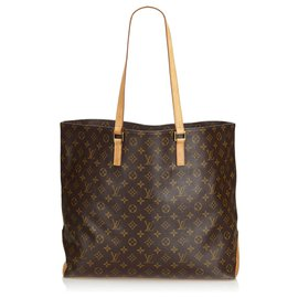 Louis Vuitton-Louis Vuitton Brown Monogram Cabas Alto-Brown