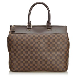 Louis Vuitton-Louis Vuitton Brown Damier Ebene Greenwich PM-Marron
