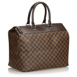 Louis Vuitton-Louis Vuitton Brown Damier Ebene Greenwich PM-Brown