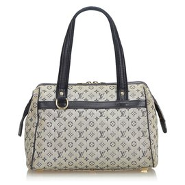 Louis Vuitton-Louis Vuitton Gray Mini Lin Josephine PM-Grey