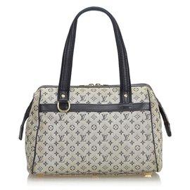 Louis Vuitton-Louis Vuitton Gris Mini Lin Josephine PM-Gris
