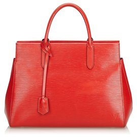 Louis Vuitton-Louis Vuitton Epi Rouge Marly MM-Rouge