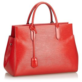 Louis Vuitton-Louis Vuitton Red Epi Marly MM-Red