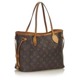 Louis Vuitton-Louis Vuitton Brown Monogram Neverfull PM-Marron