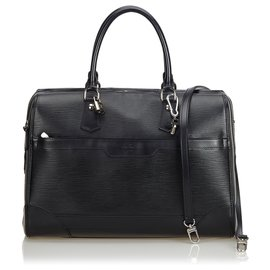 Louis Vuitton-Louis Vuitton Black Epi Bourget-Black