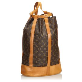 Louis Vuitton-Louis Vuitton Brown Monogram Randonnée GM-Marron