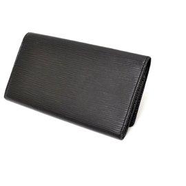 Louis Vuitton-Louis Vuitton Long Portefeuille-Noir
