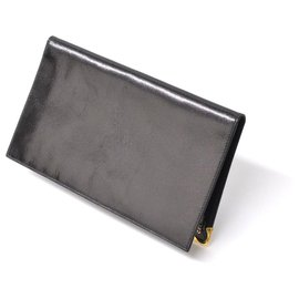 Céline-Céline Long Wallet-Black