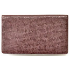Louis Vuitton-Louis Vuitton Taiga Card case-Brown
