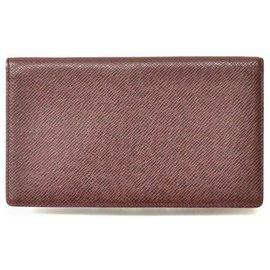 Louis Vuitton-Porte-cartes Louis Vuitton Taiga-Marron