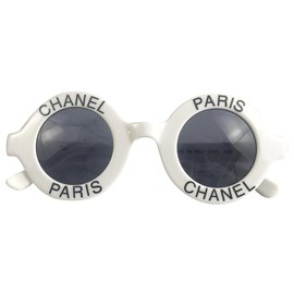 Chanel-Lunettes Collector Chanel Paris 1990's-Noir,Blanc