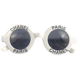 Chanel-Sammlerbrille Chanel Paris 1990's-Schwarz,Weiß