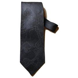 Yves Saint Laurent-Cravates-Noir