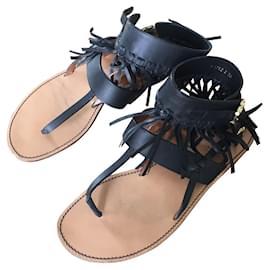 Valentino-Sandals-Black