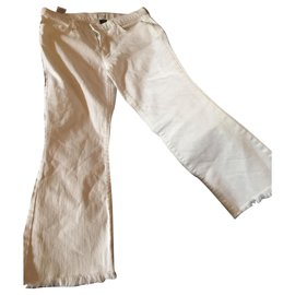 Current Elliott-Pantalons, leggings-Blanc