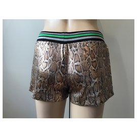 Roberto Cavalli-Short à sequins-Multicolore