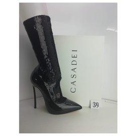 Casadei-casadei.  New. Size 39-Black