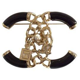 Chanel-Pins & Broschen-Schwarz,Metallisch