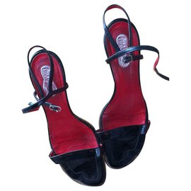 572622924f40f Free Lance-Freelance black patent sandals-Black ...