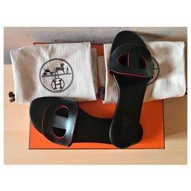Hermès-Black Lisboa sandals-Black