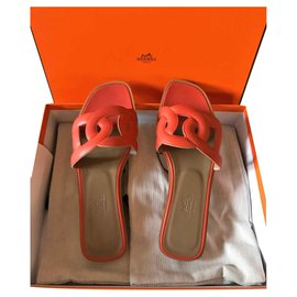 Hermès-Hermes Omaha sandals-Orange