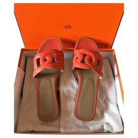 Hermès-Sandales Omaha Hermès-Orange
