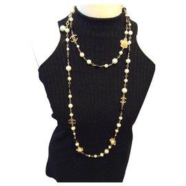Chanel-Halsketten-Mehrfarben ,Senf