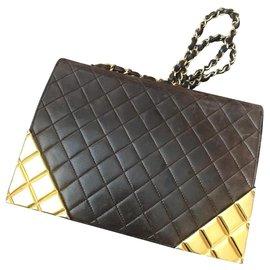Chanel-Handbags-Dark brown