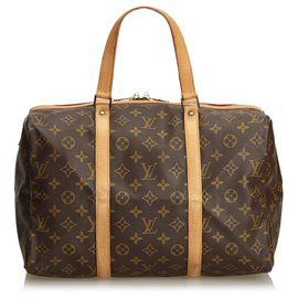 Louis Vuitton-Louis Vuitton Monogramme Sac Souple Marron 35-Marron