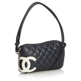 Chanel-Ligne Pochette Chanel Cambon Noir-Noir,Blanc