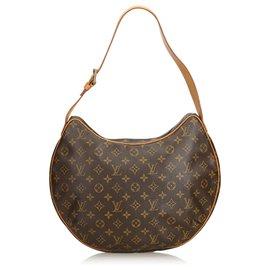 Louis Vuitton-Croissant Louis Vuitton Brown Monogram GM-Marron