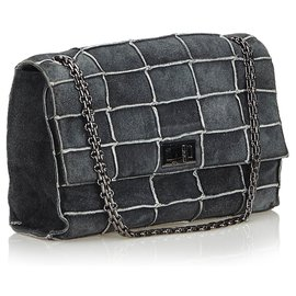 Chanel-Chanel Gray Reissue Patchwork Flap Bag-Andere,Grau