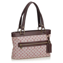 Louis Vuitton-Louis Vuitton Mini Lin Lin Lucille PM Rose-Marron,Rose
