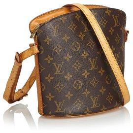 Louis Vuitton-Louis Vuitton Brown Monogram Drouot-Marron