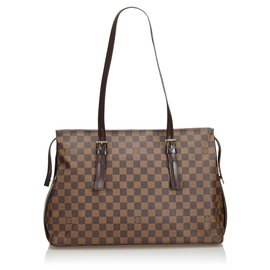 Louis Vuitton-Louis Vuitton Brown Damier Ebene Chelsea-Marron