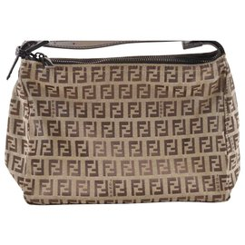 Fendi-Fendi Zucca Hand Bag-Brown